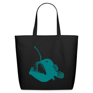 animal t-shirt anglerfish frogfish sea devil deep sea angler monkfish fishing fisherman monster - Eco-Friendly Cotton Tote