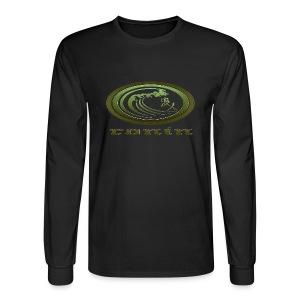 Green Logo LongSleeve T-Shirt with Sleeve Design - Men's Long Sleeve T-Shirt