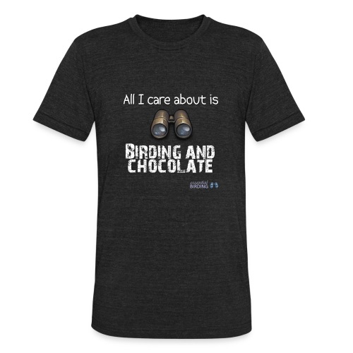 All I Care About is Birding & Chocolate - Unisex Tri-Blend T-Shirt