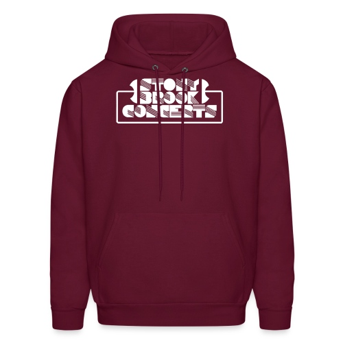 Stony Brook Concerts Men's Hooded Sweatshirt (White Lettering) - Men's Hoodie