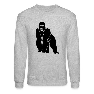 animal t-shirt gorilla ape monkey king kong godzilla silver back orang utan T-Shirts - Crewneck Sweatshirt