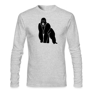 animal t-shirt gorilla ape monkey king kong godzilla silver back orang utan T-Shirts - Men's Long Sleeve T-Shirt by Next Level
