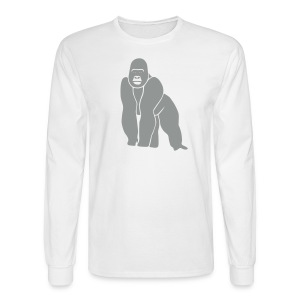 animal t-shirt gorilla ape monkey king kong godzilla silver back orang utan T-Shirts - Men's Long Sleeve T-Shirt