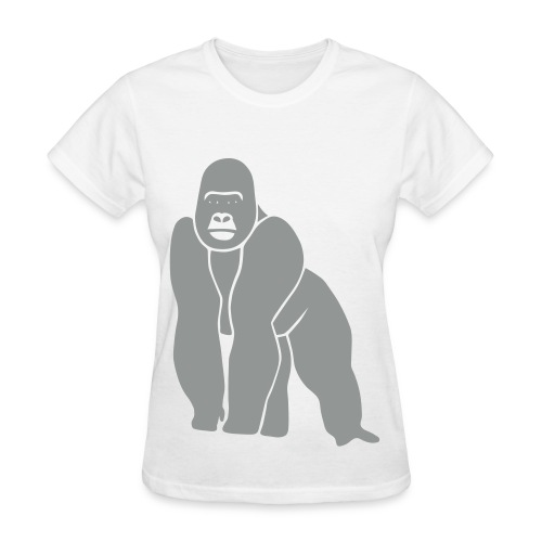 animal t-shirt gorilla ape monkey king kong godzilla silver back orang utan T-Shirts - Women's T-Shirt