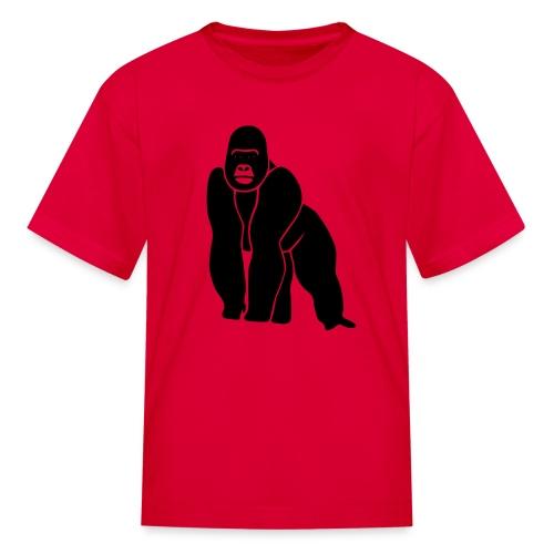 animal t-shirt gorilla ape monkey king kong godzilla silver back orang utan T-Shirts - Kids' T-Shirt