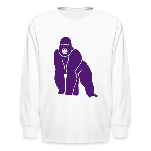 animal t-shirt gorilla ape monkey king kong godzilla silver back orang utan T-Shirts - Kids' Long Sleeve T-Shirt