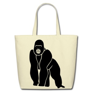 animal t-shirt gorilla ape monkey king kong godzilla silver back orang utan T-Shirts - Eco-Friendly Cotton Tote