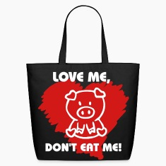 love me dont eat me Bags
