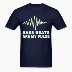 Bass Beats are my pulse Glow in the dark T-shirt