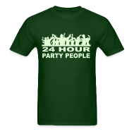 T-Shirts ~ Men's T-Shirt ~ 24 Hour Party People Glow in the Dark T-shirt
