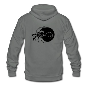 animal t-shirt hermit crab crayfish cancer shrimp prawn lobster ocean snail conch seafood sea food shellfish - Unisex Fleece Zip Hoodie by American Apparel