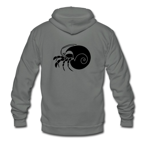 animal t-shirt hermit crab crayfish cancer shrimp prawn lobster ocean snail conch seafood sea food shellfish - Unisex Fleece Zip Hoodie