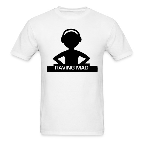 raving mad dj t shirt t shirt rave dj smiley face t. Black Bedroom Furniture Sets. Home Design Ideas
