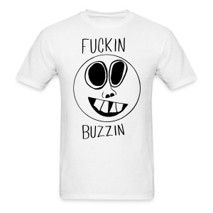 Fuckin Buzzin Smiley Face T-shirt - Men's T-Shirt