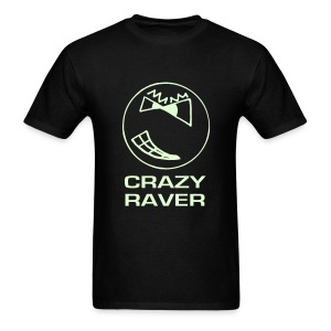 Crazy Raver Smiley Face Glow in the Dark T-shirt - Men's T-Shirt