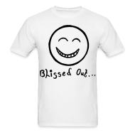 T-Shirts ~ Men's T-Shirt ~ Blissed Out Smiley Face T-shirt