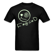 T-Shirts ~ Men's T-Shirt ~ Fucked Smiley Face Glow in the Dark T-shirt