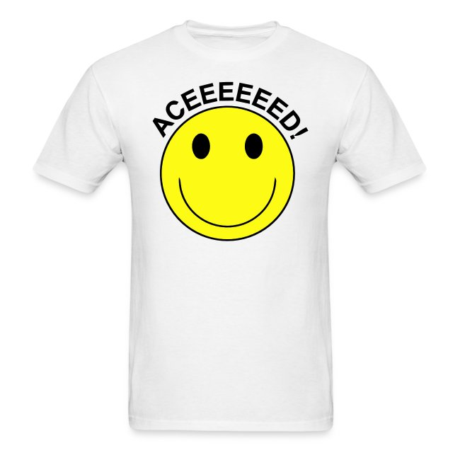 51cf7771d Rave DJ & Smiley Face T-shirts & Clothing USA | Aceeeed! Smiley Face ...