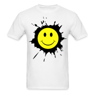 T-Shirts ~ Men's T-Shirt ~ Paint Splat Smiley Face T-shirt