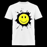 T-Shirts ~ Men's T-Shirt ~ Paint Splat Smiley Face T-shirt
