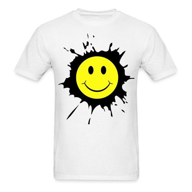 4c760d6d5 Rave DJ & Smiley Face T-shirts & Clothing USA | Paint Splat Smiley ...