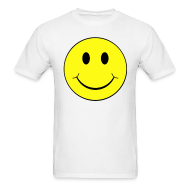 T-Shirts ~ Men's T-Shirt ~ Smiley Face Raving Give you Wings T-shirt Front & Back