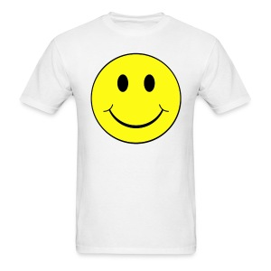 Smiley Face Raving Give you Wings T-shirt Front & Back - Men's T-Shirt