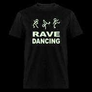 T-Shirts ~ Men's T-Shirt ~ Rave Dancing Glow in the Dark T-shirt