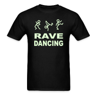 T-Shirts ~ Men's T-Shirt ~ Rave Dancing Glow in the Dark T-shirt