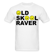 T-Shirts ~ Men's T-Shirt ~ Old Skool Raver T-shirt