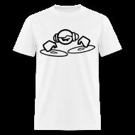 T-Shirts ~ Men's T-Shirt ~ DJ Mixing on the decks T-shirt