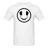 T-Shirts ~ Men's T-Shirt ~ Smiley Face Headphone DJ T-shirt
