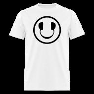 T-Shirts ~ Men's T-Shirt ~ Smiley Face Headphone DJ T-shirt