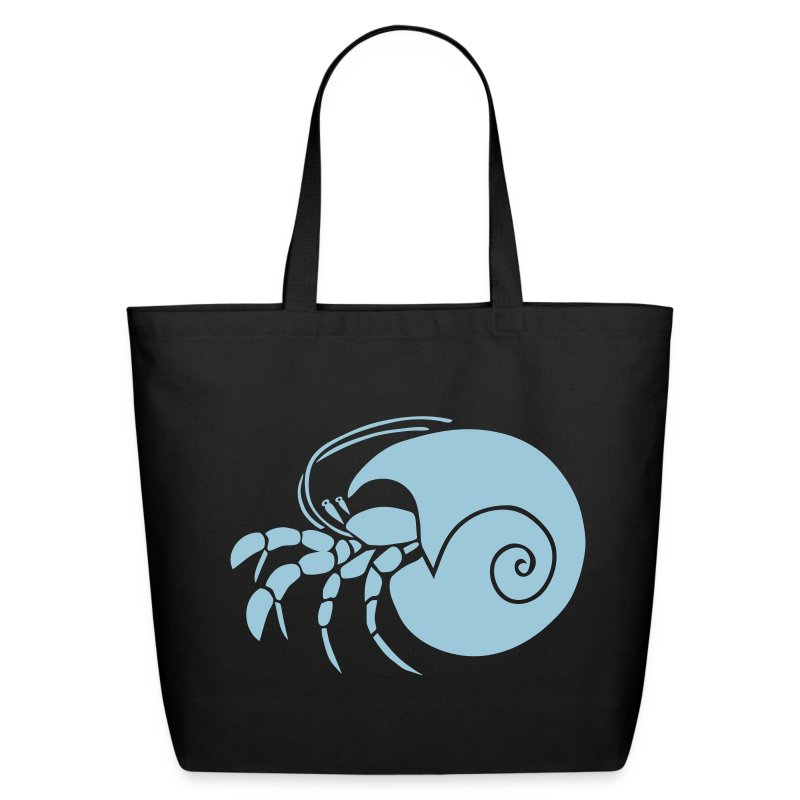 animal t-shirt hermit crab crayfish cancer shrimp prawn lobster ocean snail conch seafood sea food shellfish - Eco-Friendly Cotton Tote