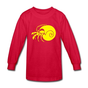 animal t-shirt hermit crab crayfish cancer shrimp prawn lobster ocean snail conch seafood sea food shellfish - Kids' Long Sleeve T-Shirt