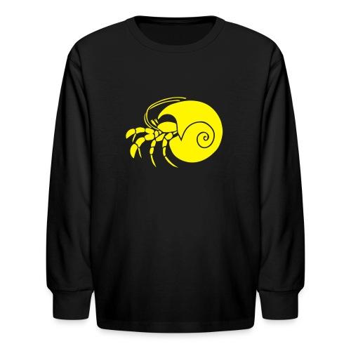 animal t-shirt hermit crab crayfish cancer shrimp prawn lobster ocean snail conch seafood sea food shellfish - Kids' Long Sleeve T-Shirt