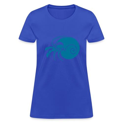 animal t-shirt hermit crab crayfish cancer shrimp prawn lobster ocean snail conch seafood sea food shellfish - Women's T-Shirt