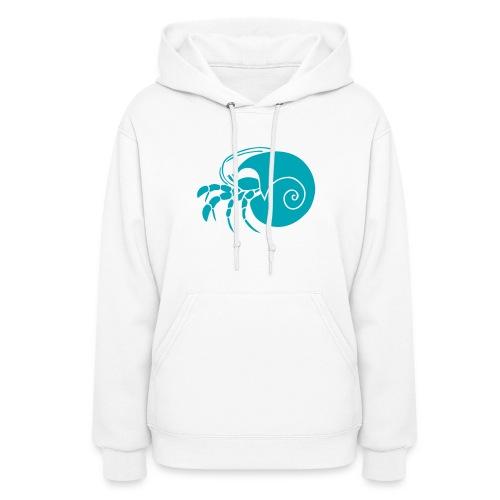 animal t-shirt hermit crab crayfish cancer shrimp prawn lobster ocean snail conch seafood sea food shellfish - Women's Hoodie