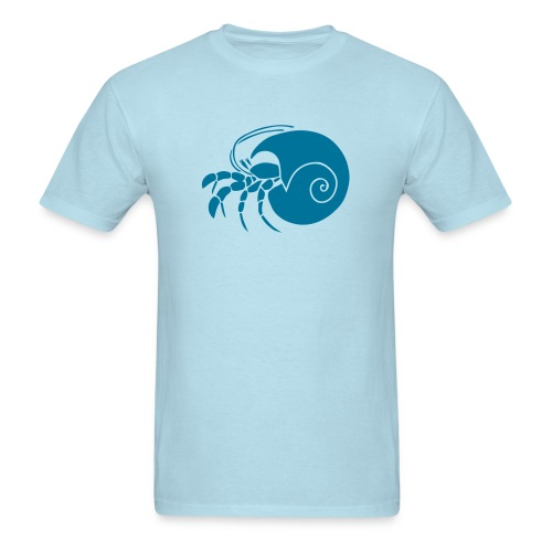 animal t-shirt hermit crab crayfish cancer shrimp prawn lobster ocean snail conch seafood sea food shellfish - Men's T-Shirt