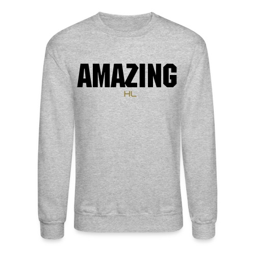 AMAZING CREW NECK GREY/BLACK - Crewneck Sweatshirt