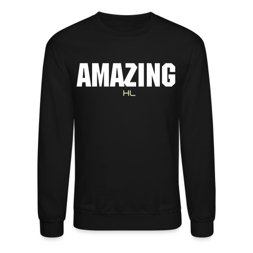 AMAZING Crew Neck BLACK/WHITE - Crewneck Sweatshirt