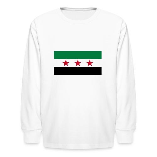 Syria Flag (pre-1963) - Kids' Long Sleeve T-Shirt