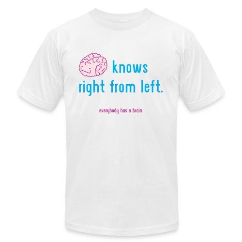 Brain Knows Men's T-Shirt - White - Men's Fine Jersey T-Shirt