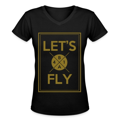 [B1A4] Let's Fly (Metallic Gold) - Women's V-Neck T-Shirt