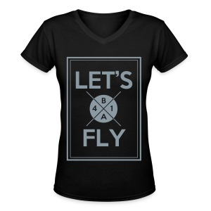 [B1A4] Let's Fly (Metallic Silver) - Women's V-Neck T-Shirt