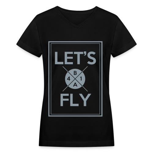 [B1A4] Let's Fly (Metallic Silver) - Women's V-Neck T-Shirt