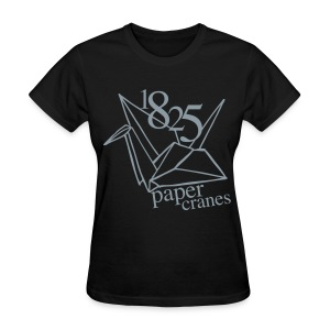 [EH] 1825 Paper Cranes (Metallic Silver) - Women's T-Shirt