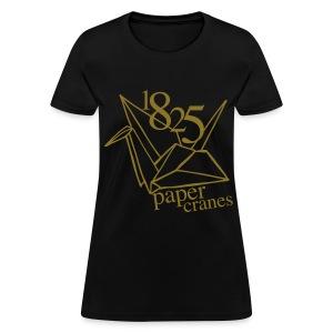 [EH] 1825 Paper Cranes (Metallic Gold) - Women's T-Shirt