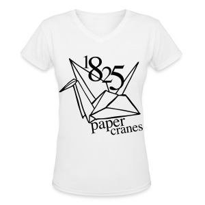 [EH] 1825 Paper Cranes - Women's V-Neck T-Shirt