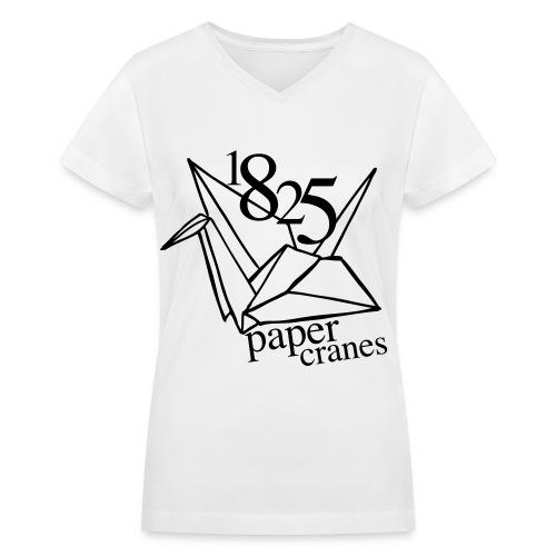 [EH] 1825 Paper Cranes - Women's V-Neck T-Shirt